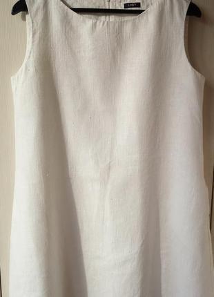 Льняное платье list