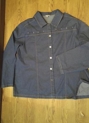 Джинсовая куртка, пиджак# жакет большой размер