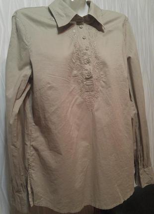 «розвантажуюсь» хлопковая рубашка-блузка с длинным рукавом