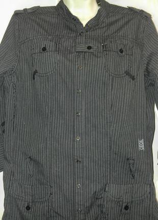 Длинная хлопковая рубашка, интересный фасон.
