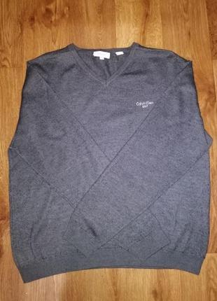 🔥стильная серая трикотажная мужская кофта, джемпер, свитер cal...