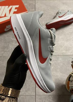 Nike runner 2 gray/red мужские кроссовки