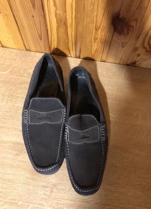 Замшевые туфли мокасины италия!