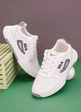 Мужские белые кроссовки fila