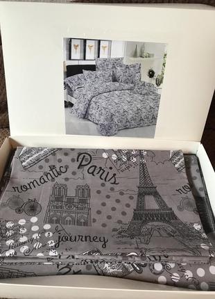 Комплект полуторного постельного белья париж бязь голд хлопок