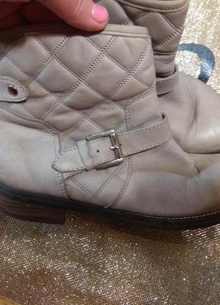 Кожаные деми ботинки 23.5см