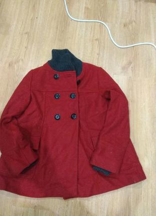 Шерстяное полу пальто 146-152 размер