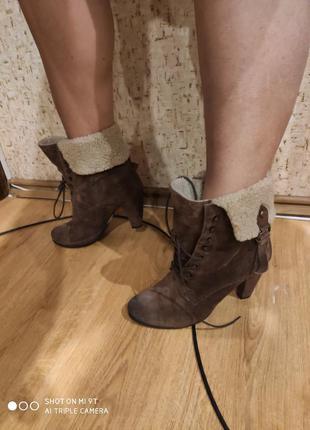 Замшевые деми ботинки 42 размер