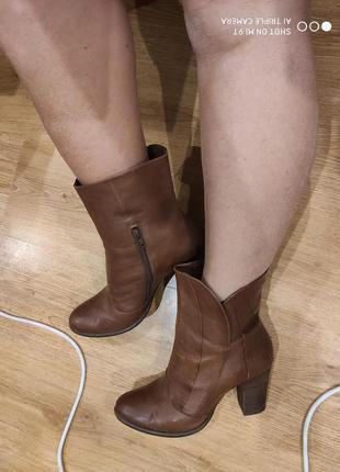 Кожаные деми ботинки 42 размер