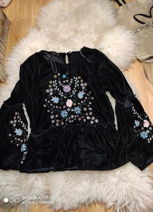 Бархатная блуза 56 размер