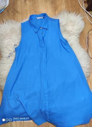 Стильное платье- рубашка 48 размер