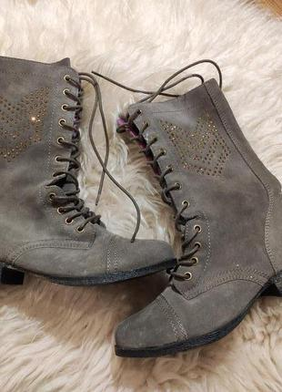 Замшевые деми ботинки 38 размер