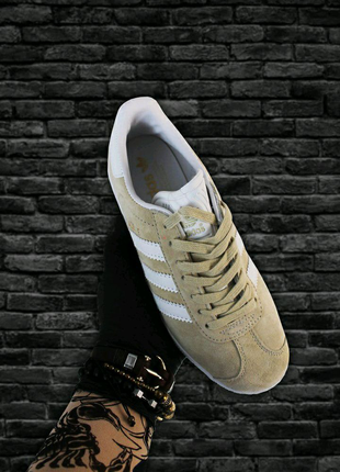 Adidas Gazelle Beige White