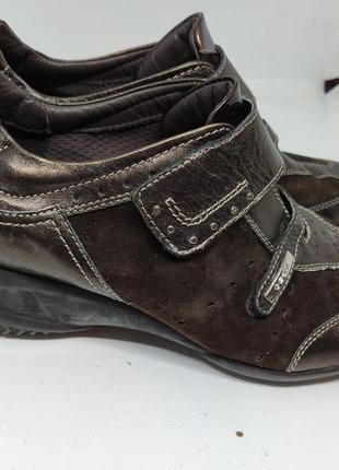 Кожаные кроссовки 41 размер