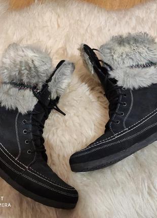 Замшевые ботинки 41 размер