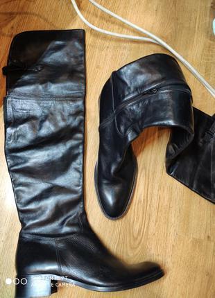 Кожаные ботфорты 42 размер