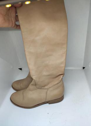 Кожаные деми сапоги 38 размер