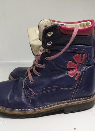 Кожаные деми ботинки 34 размер