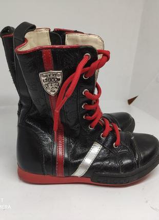 Кожаные деми ботинки 27 размер