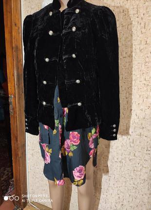Бархатный пиджак 48 размер