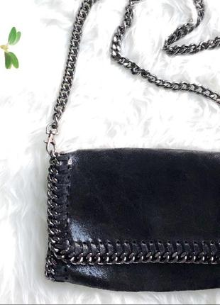 Кожаная сумка клатч кроссбоди borse in pelle италия
