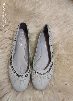 Шикарные кожаные балетки 41 размер