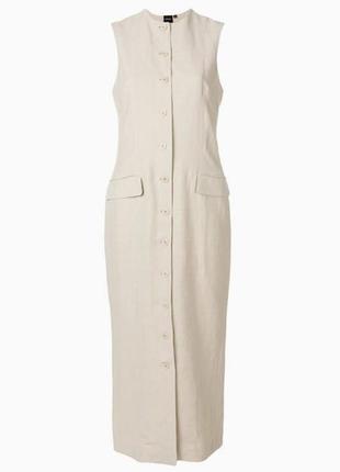 Льняное платье 46 размер