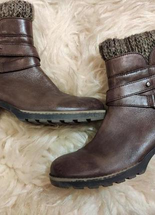 Кожаный деми ботинки 39 размер
