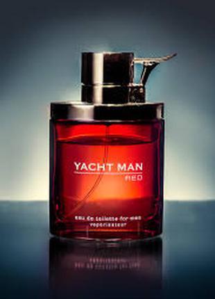 Шикарная туалетная вода yacht man red 100мл