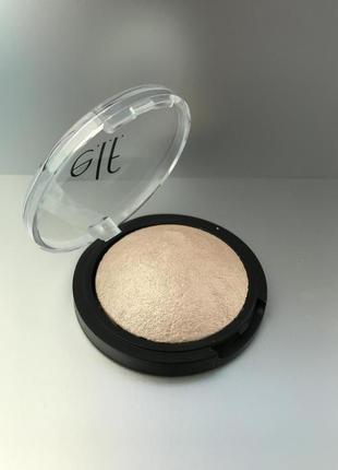 E.L.F. Baked Highlighter оттенок Moonlight Pearls и оттенок Blush