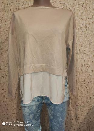 Трикотажная блуза 48 размер