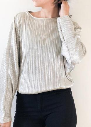 Блуза плиссе 46 размер