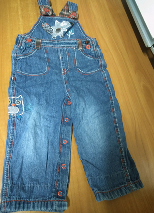 Комбинезон джинсовий 2шт за 80грн! от 6мес-1,5года, 74, 80, 86см.