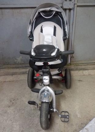 Новый детский велосипед-коляска Трехколесный