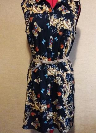 Платье в бабочки платье-рубашка