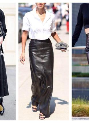 Vip! длинная 100% кожаная юбка/юбка/платье/кожаная юбка