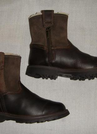 Детские зимние кожаные сапоги timberland для мальчика р31 стел...