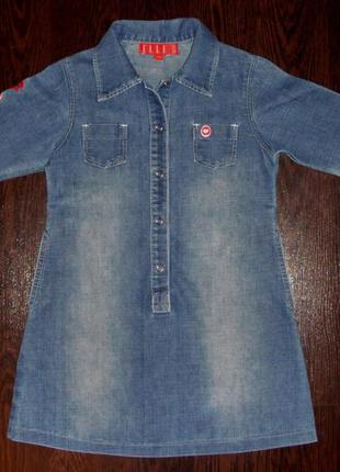 Детское брендовое джинсовое платье elle на девочку 4-6 лет р110
