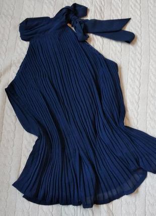 Блузка плиссе з бантом