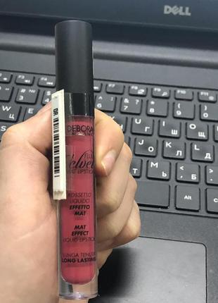 Матова рідка помада для губ deborah fluid velvet mat lipstick