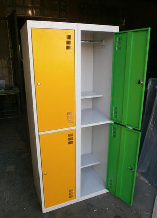 Шкаф металлический для одежды ШОМ 300-4-8 Подбор цвета