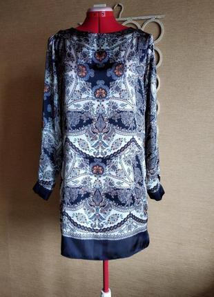 Платье рубашка туника с длинным рукавом
