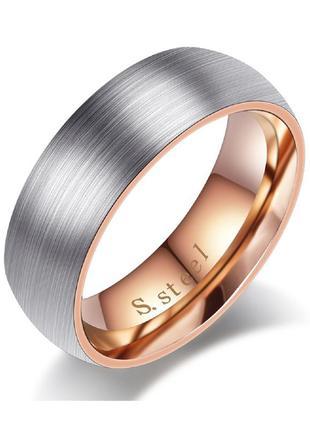 Кольцо из нержавеющей стали 316l с позолотой 18к abaccio k461,...