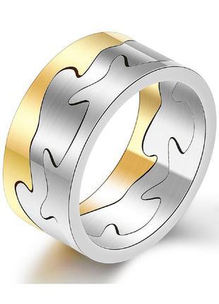 Кольцо из нержавеющей стали 316l с позолотой 18к abaccio k467,...