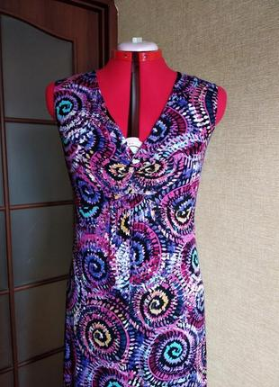 Платье сарафан длинное в пол цветное