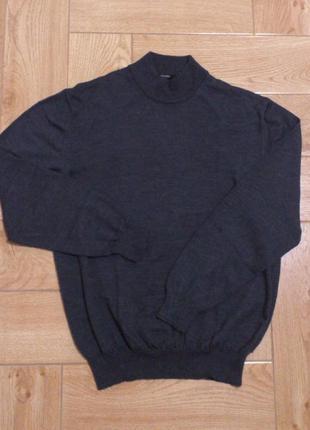 Шикарный мужской серый джемпер свитер свитшот лонгслив гольф s...