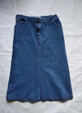 Винтажная джинсовая юбка миди