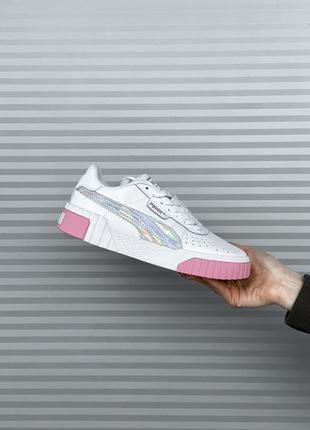 Puma cali  ✰ женские кожаные кроссовки ✰ белого цвета 😻