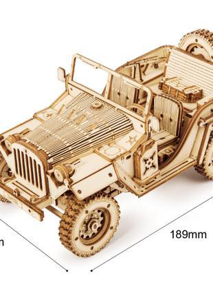 Деревянный 3D конструктор (модель джипа)