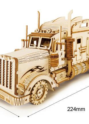 Деревянный 3D конструктор (модель грузовика)